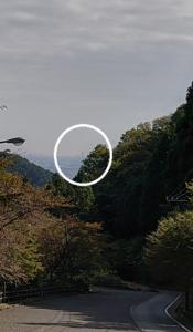 伊勢原から見たランドマークタワー